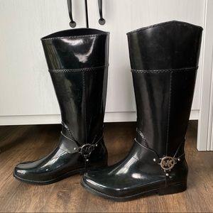 EUC Michael Kors rain boots black size 9